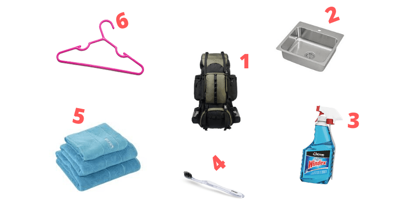 Items Required to clean north face backpack
