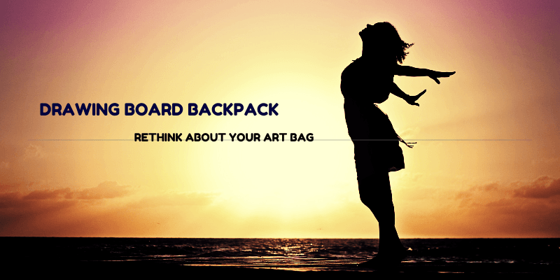 Drawing Board Artist Backpack Art Carrying Case
