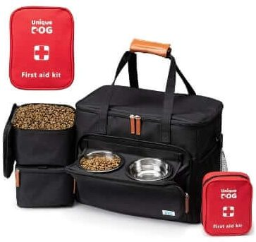 Unique Dog Travel Bag With First Aid Bag