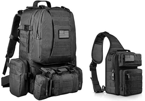 CVLIFE Military Tactical - Bushcraft Backpack with Axe Holder