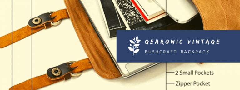 Gearonic Vintage Bushcraft Canvas Backpack