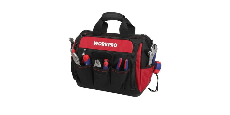 WORKPRO Top Wide Mouth Tool Bag for Plumbers