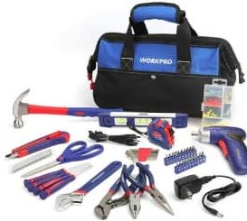 WORKPRO Tool Bag with Household Tool Kit