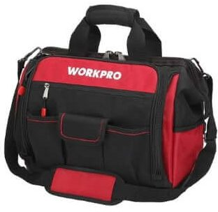 WORKPRO Top Wide Mouth Pipefitters Tool Bag