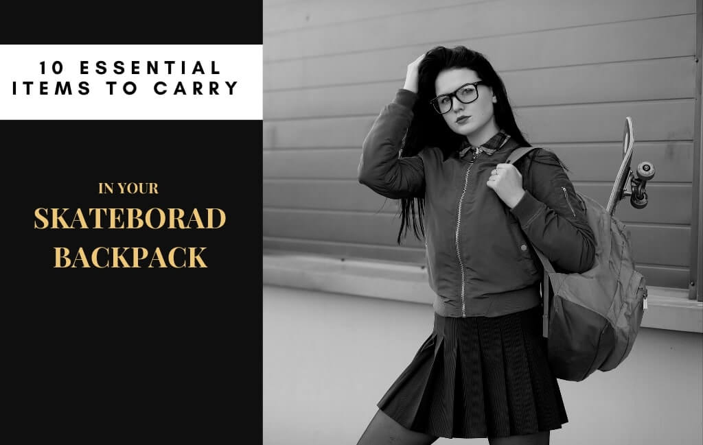 What do skateboarders carry in their backpacks